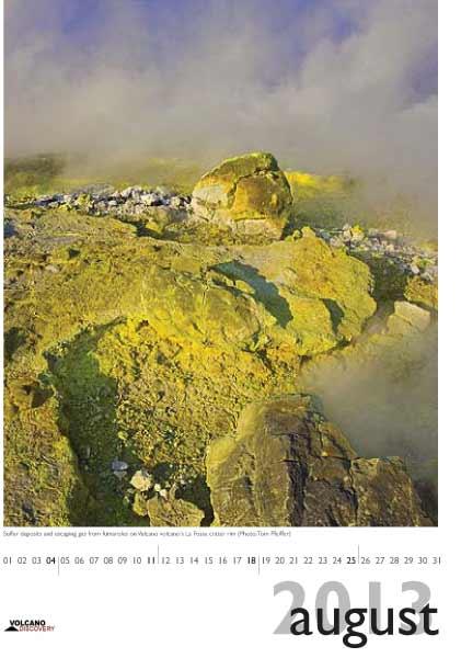 Volcano calendar 2013 - August preview