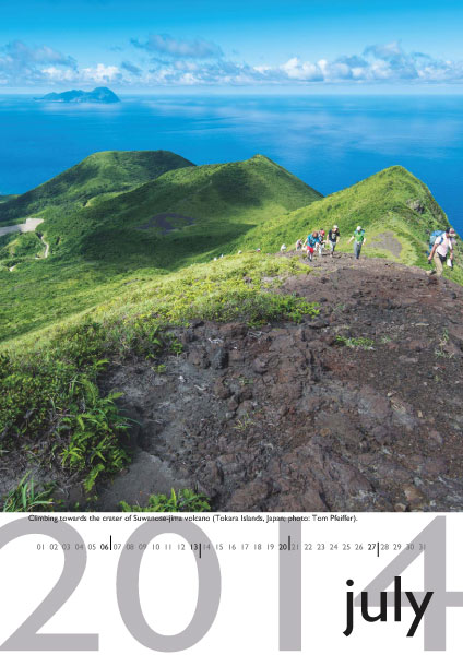 Volcano calendar 2014 - July preview