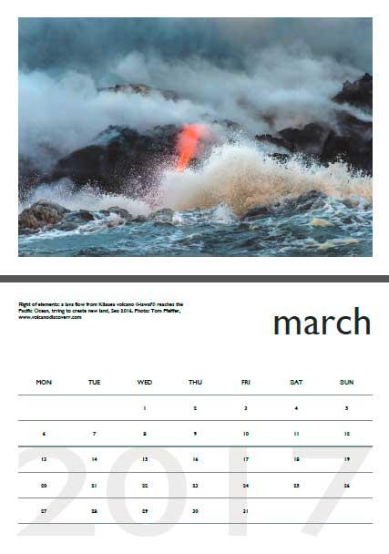 Volcano calendar 2017 - March preview