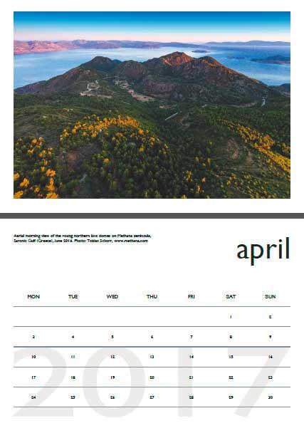Volcano calendar 2017 - April preview